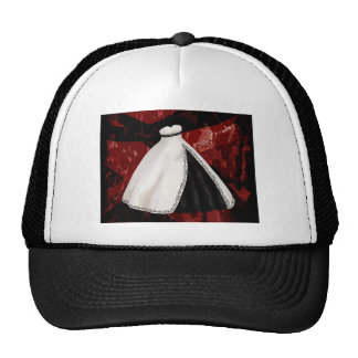 Black and White Wedding Gown Hat