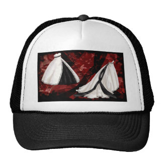 Black and White Wedding Gown Trucker Hats