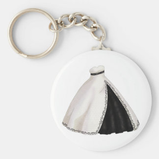 Black and White Wedding Gown Keychain