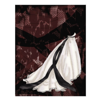 Black and White Wedding Gown Letterhead