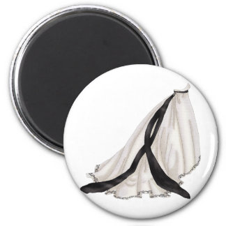 Black and White Wedding Gown Magnet