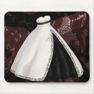 Black and White Wedding Gown Mousepad