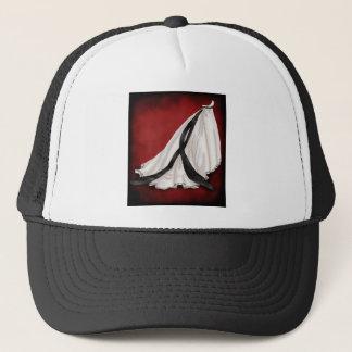 Black and White Wedding Gown Trucker Hat