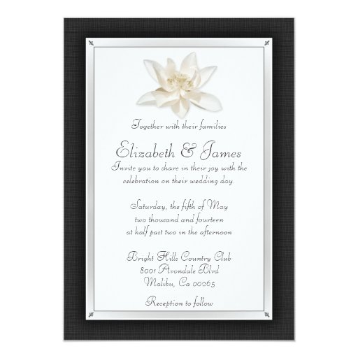 black and white wedding invitations black and white wedding invitations zazzle 1826