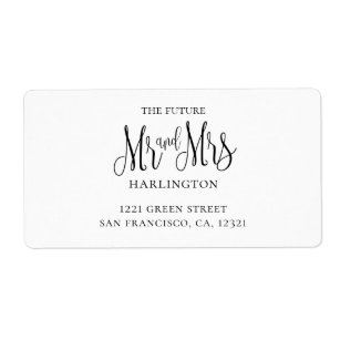 mr and mrs labels zazzle