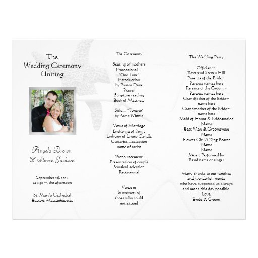 hobby lobby wedding program templates image collections template