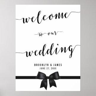 Black And White Wedding Reception Sign Print 18x24