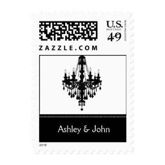 black and white  wedding stamps