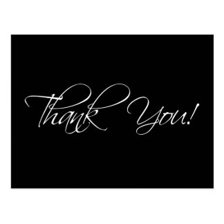 Black and White Wedding Thank You Postcards