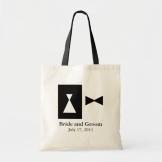 Black and White Wedding Tote Bag