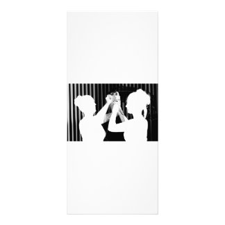 Black and white wedding veil by bride &bridesmaid rack card