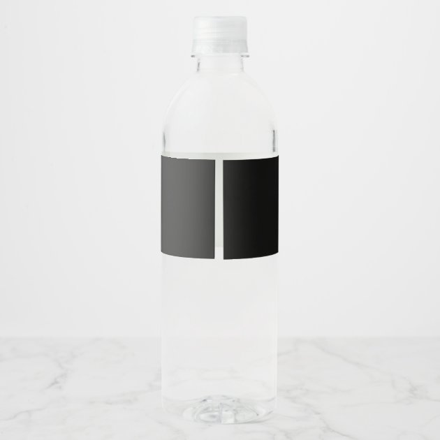 Black and White Wedding Welcome Water Bottle Label | Zazzle