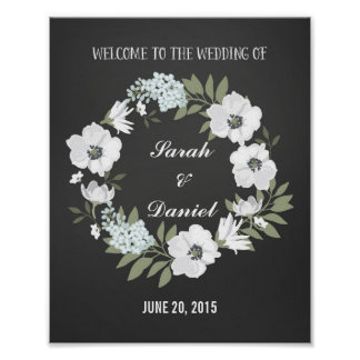Black and White Welcome Poster Print