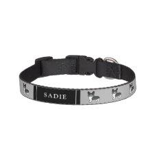 Black And White Welsh Corgi Pembroke Dogs & Name Pet Collar