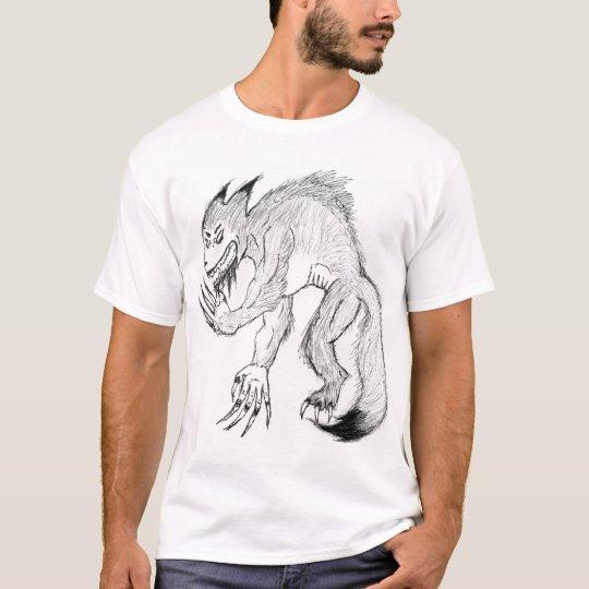 Black and White Werefox T-Shirt