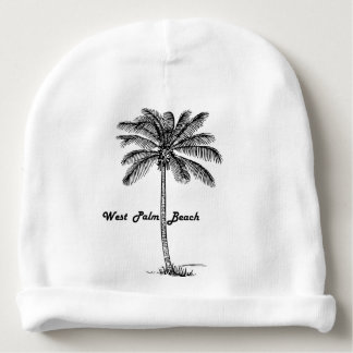 Black and white West Palm Beach & Palm design Baby Beanie