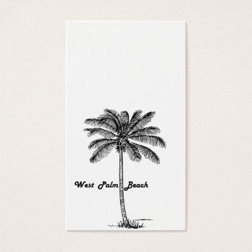Beach Themed Black and white West Palm Beach & Palm design Business Card