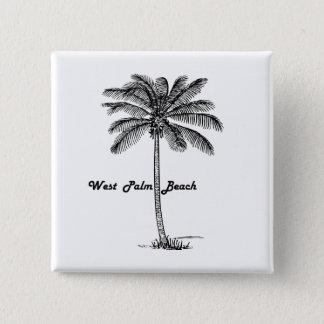 Black and white West Palm Beach & Palm design Button