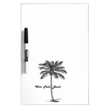 Black and white West Palm Beach & Palm design Dry-Erase Board