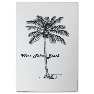 Black and white West Palm Beach & Palm design Post-it® Notes