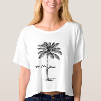 Black and white West Palm Beach & Palm design T-shirt