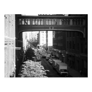 Black and White West Village Skybridge, NYC Postcard