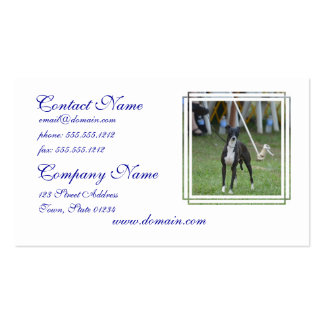 Black and White Whippet Double-Sided Standard Business Cards (Pack Of 100)
