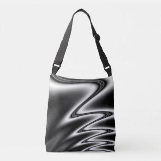 Black and White Wiggle Crossbody Bag