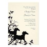 Black and White Wild Horses Wedding Invitation