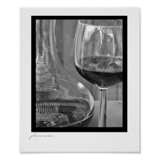 black and white wine two poster