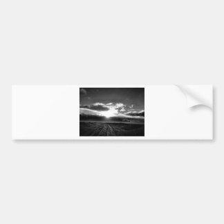 black and white winter bumper sticker