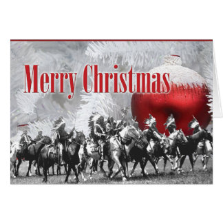 Black and White Winter Christmas Card