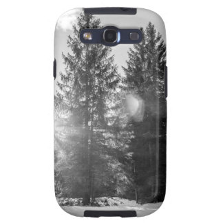 Black And White Winter Forest Landscape Galaxy SIII Cover