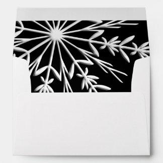 Black and White Winter Snowflake Envelope