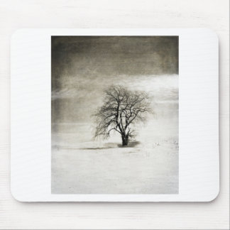 Black and White Winter Tree Mousepads