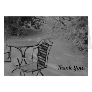 Black and White Winter Wedding Thank You Cards