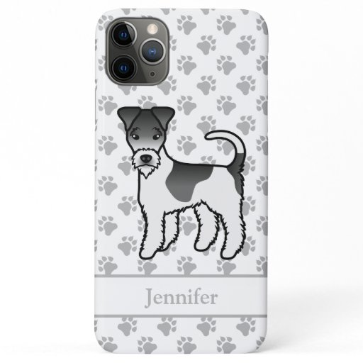 Black And White Wire Fox Terrier Cute Dog & Name iPhone 11 Pro Max Case