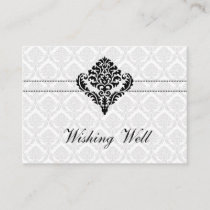 """""""black and white"""" wishing well cards"""