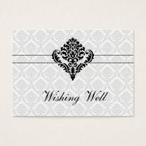 """black and white"" wishing well cards"