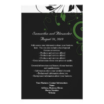 Black and White with Green Swirl Accent Flyer