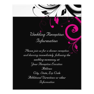 Black and White with Magenta Swirl Accent Flyer Design