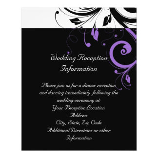 Black and White with Purple Swirl Accent Custom Flyer