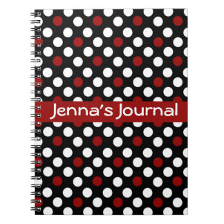 Black and White with Red Notebook
