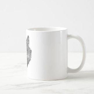 Black and White Wolf Coffee Mug