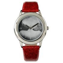 Black and white wolf - moon wolf - lupus wolf wristwatch