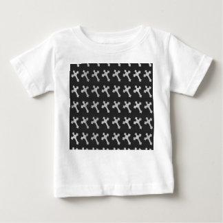 Black and White Wood Cross Design T-shirt