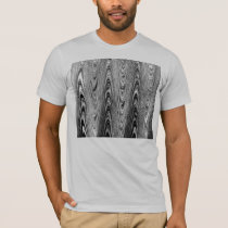 Black and White Wood Grain T-Shirt
