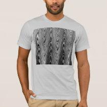 Black and White Wood Grain T-Shirt