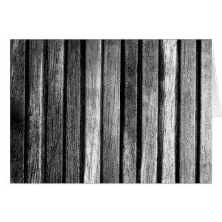 Black and White Wood Slats Card