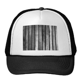 Black and White Wood Slats Hats